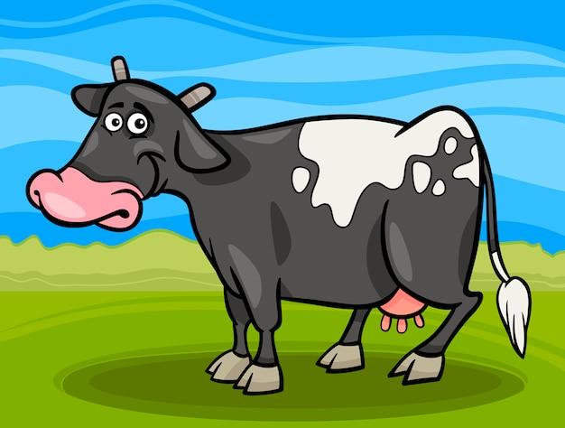 Векторная иллюстрация мультфильм корова