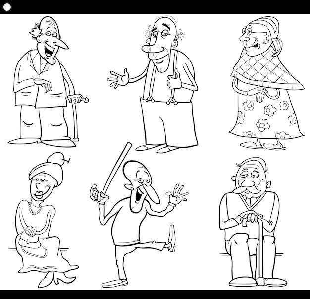 高齢者は漫画のぬりえの本を設定