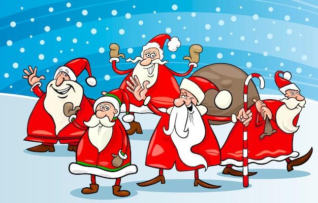 サンタの漫画のグループ