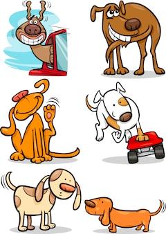 漫画かわいい犬セット