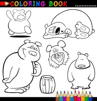 ぬりえの本やページのための熊