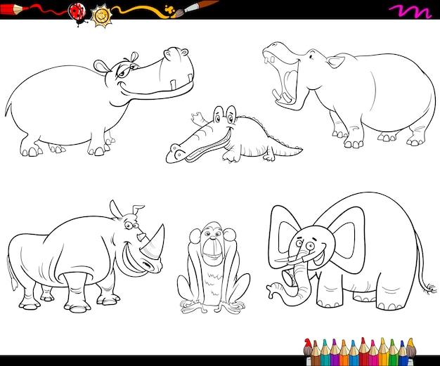 動物キャラクターのページを着色