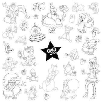 Черный и белый рождественский набор