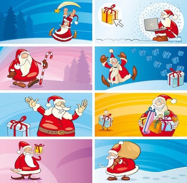 サンタ節付き漫画グリーティングカード