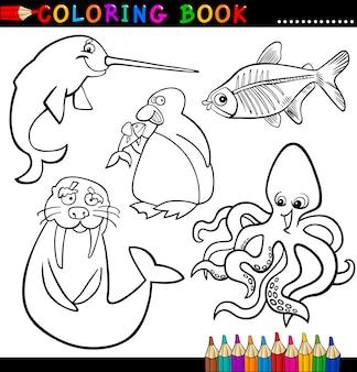 Животные для раскраски или страницы