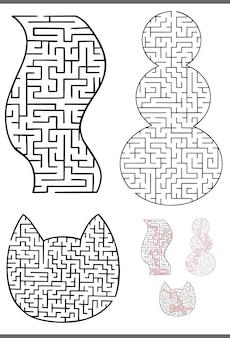 Набор графических лабиринтов