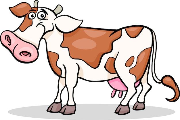Корова фермы животных мультфильм иллюстрации