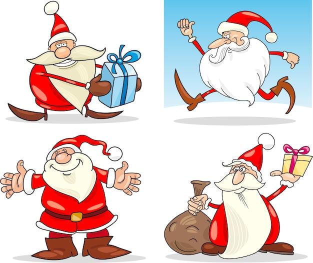 漫画のクリスマスサンタ節セット