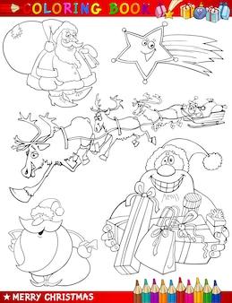 Мультфильм рождественские темы для раскраски
