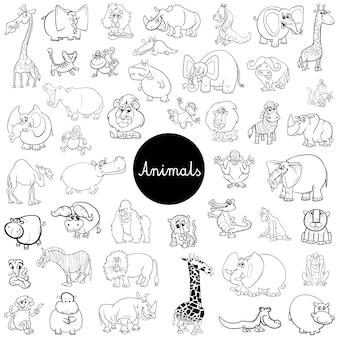 野生動物キャラクターセットカラーブック