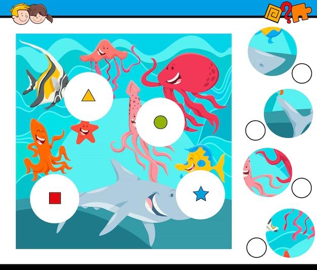 マッチピースと海の動物グループ