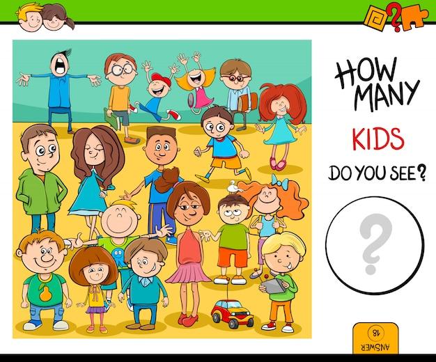 子供のキャラクターの教育活動を数える