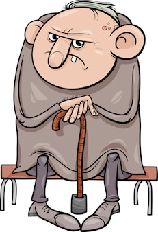 かわいい老人漫画のイラスト