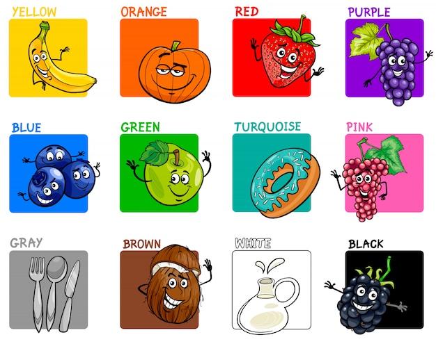 果物や食べ物で設定された基本色
