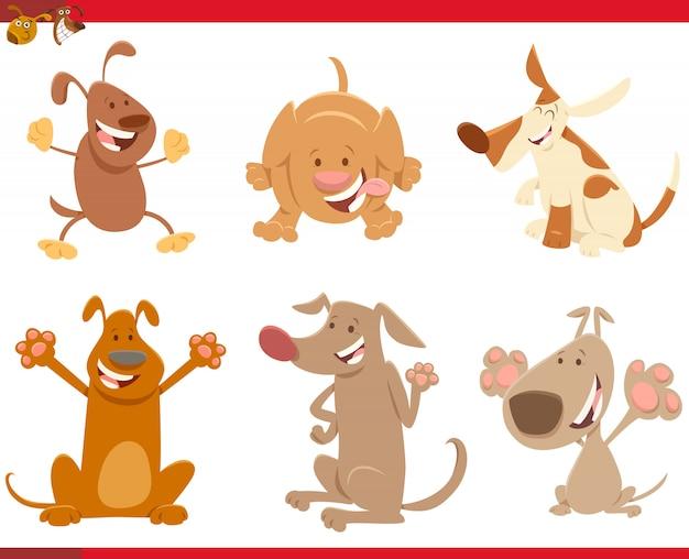 犬や子犬の漫画イラストセット