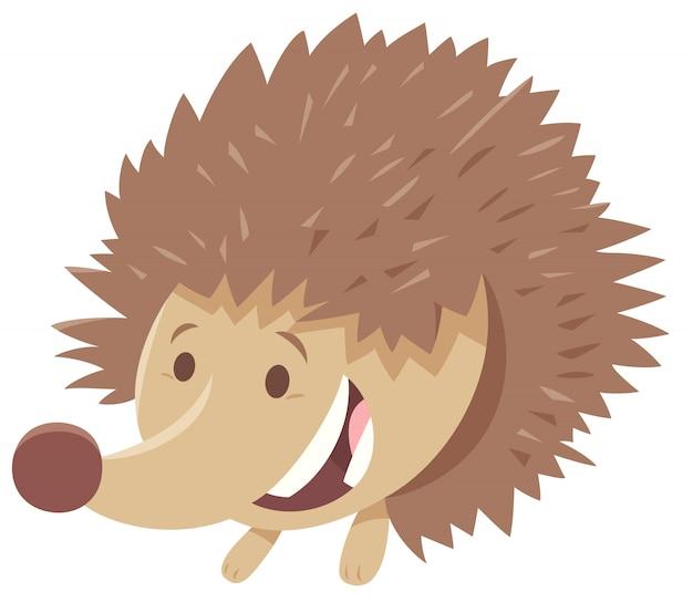 ハリネズミの動物キャラクターの漫画イラスト