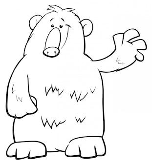 クマの黒と白の漫画イラスト