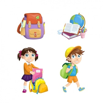 学校の要素のコレクション