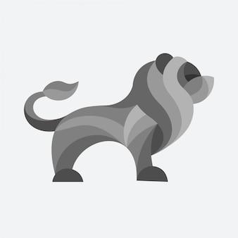 ライオンのベクトルのロゴ