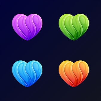 青の現代愛のロゴのテンプレート