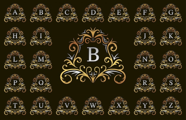 Золотые и серебряные буквы класса люкс от а до я