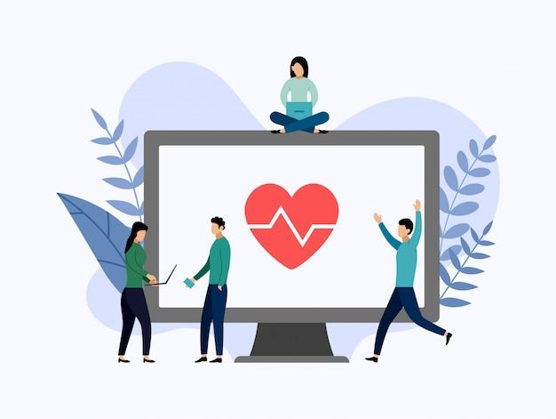 健康保険、健康保護、ビジネスイラスト