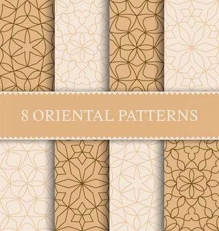 伝統的なアラビアのシームレスパターンのセット