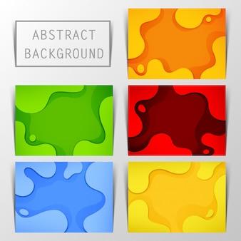 Динамический текстурированный фон с пятью цветами