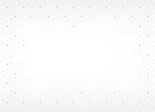 抽象的な背景、灰色の六角形のテクスチャ、ベクトルイラスト