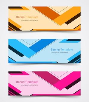 抽象的な企業バナーテンプレートセット