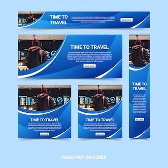 Современный веб-баннер дизайн шаблона