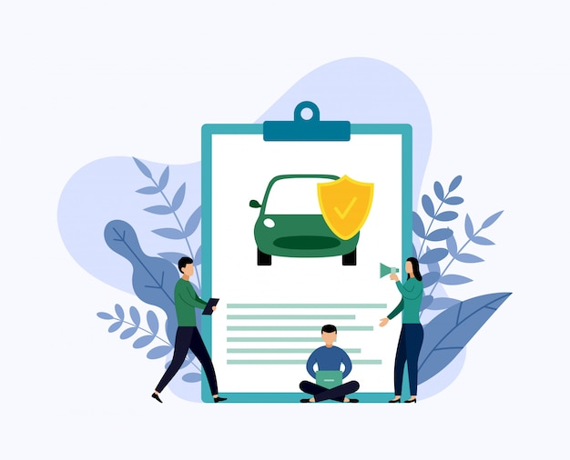Защита автомобиля, бизнес-концепция векторная иллюстрация