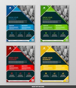 Современный бизнес флаер дизайн набор шаблонов