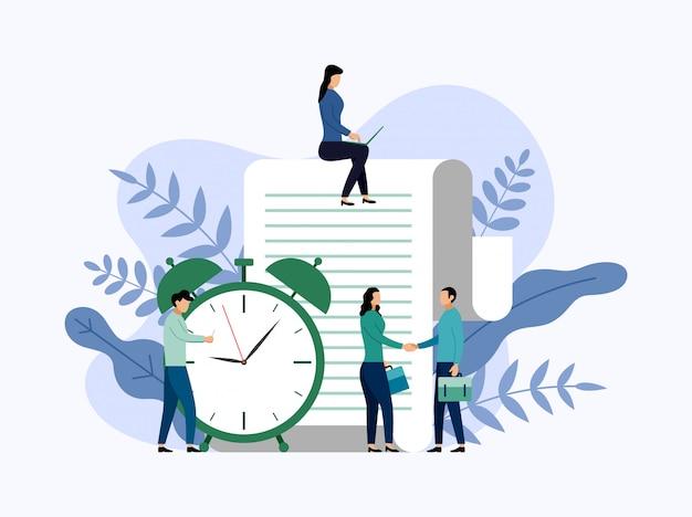 時間管理、スケジュールの概念またはプランナー