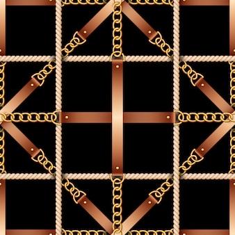 ベルト、チェーン、ロープのシームレスパターン