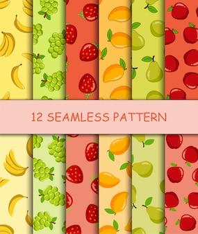 Набор бесшовные модели с фруктами