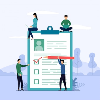 調査報告書、チェックリスト、文字付きアンケート