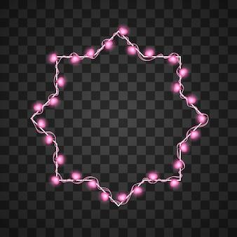 透明で分離された心の電球