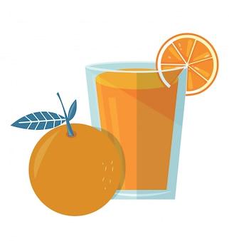 オレンジジュースのベクトル
