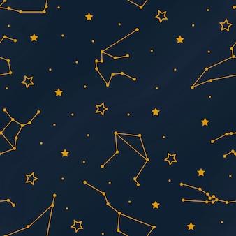 Созвездия бесшовные шаблон