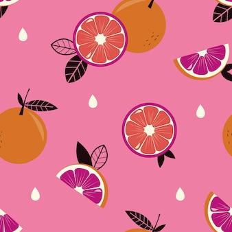 柑橘類のシームレスパターン