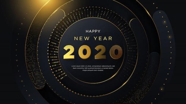 С новым годом с необычным золотым текстом