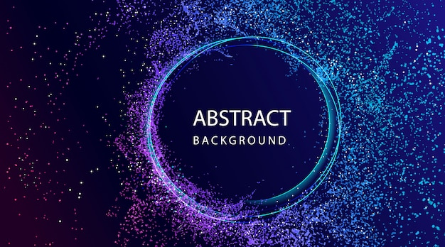 粒子組成と抽象的な背景