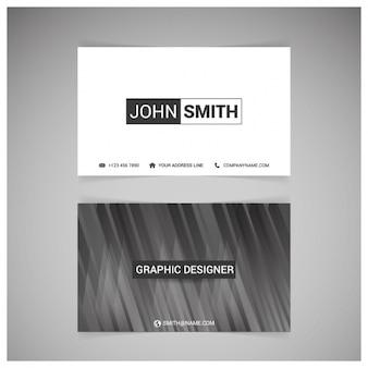 Черно-белый дизайн визитной карточки