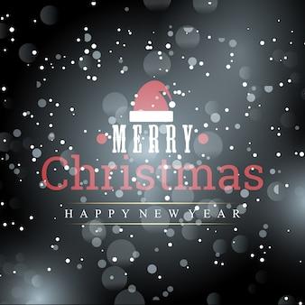 創造的なタイポグラフィと雪を含むクリスマスポスター