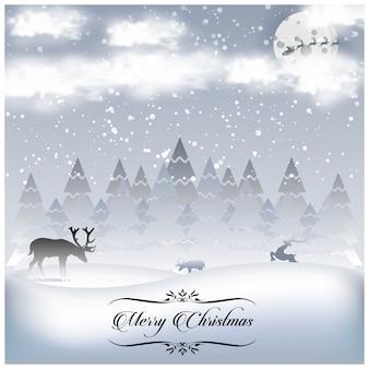 シンプルなタイポグラフィを含むクリスマスポスター
