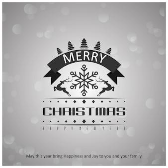 クリエイティブタイポグラフィを含むクリスマスポスター