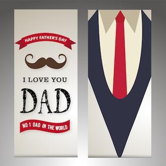 幸せな父の日カードクリエイティブなデザインのベクトル