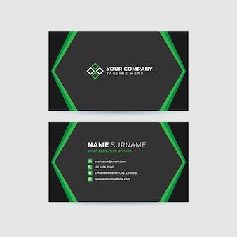 Профессиональный чистый шаблон визитной карточки
