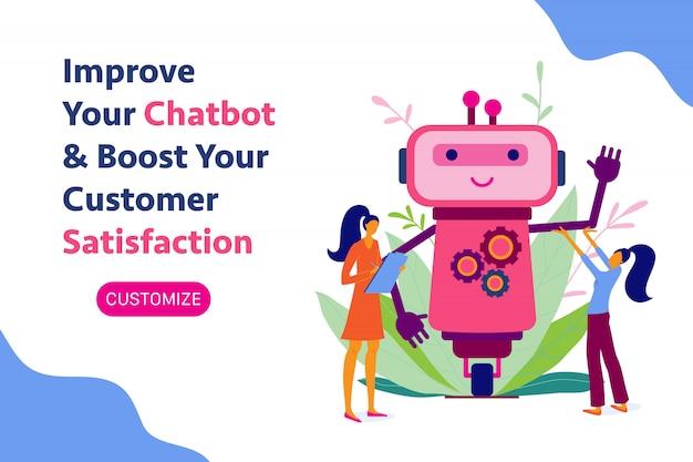 チャットボット、チャットボット、ロボット開発、自動化、バナー